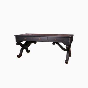 Französischer ebonisierter Schreibtisch, 1850er Jahre