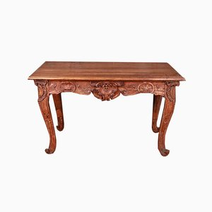 Italian Walnut Console Table, 1780s