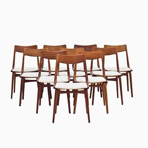 Boomerang Teak Dining Chairs by Alfred Christensen for Slagelse Møbelværk, 1950s, set of 6