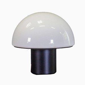 Large Mushroom Table Lamp on Steel Base, 1960s