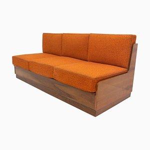 Walnut Folding Sofa, 1960s, Czechoslovakia
