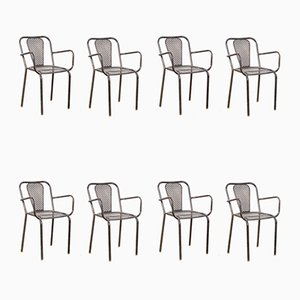 Armchairs by Rene Malaval for Bloc Metal, 1940s, Set of 10