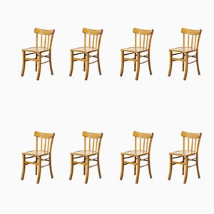 French Bentwood Model 3 Dining Chairs from Luterma, 1950s, Set of 8