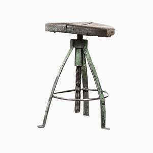 French Industrial Swivel Welders Stool Model 26, 1950s