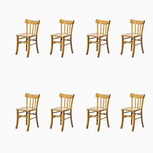 French Bentwood Dining Chairs Model 3 from Luterma, 1950s, Set of 24