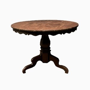 Ornate Swedish Round Table, 1860s