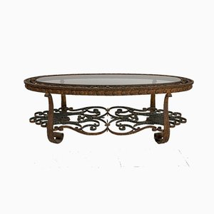 20th Century Spanish Wrought Iron Coffee Table