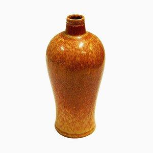 Vase Vintage en Céramique Brun Doré par Gunnar Nylund pour Rörstrand, Suède, 1950s