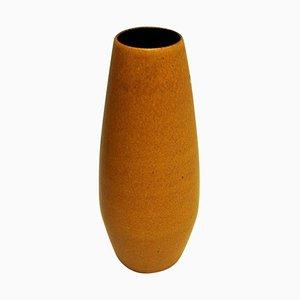Vase Vintage en Céramique Jaune de Scheurich, Allemagne de l'Ouest, 1960s