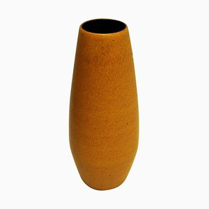 Vintage Yellow Ceramic Vase from Scheurich, W. Germany, 1960s