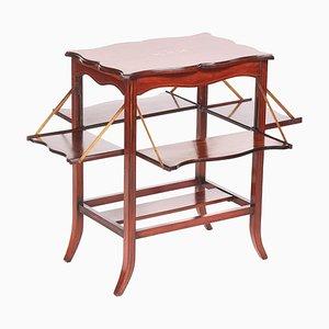 Antique Edwardian Inlaid Hardwood Centre Table