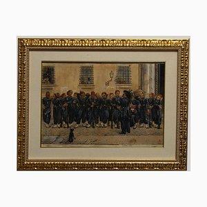 Bersaglieri in Rom, 1871, Aquarell