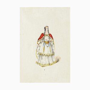 Theatrical Costume, Original Lithograph, Early 20th-Century