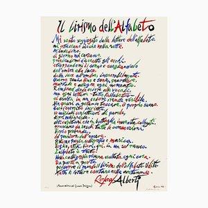Rafael Alberti, Die Lyrik des Alphabets, 1972, Lithographie