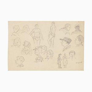 Figure, 19th-Century, Pencil Drawing