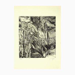 Guelfo Bianchini, the Lovers, Original Etching, 1958