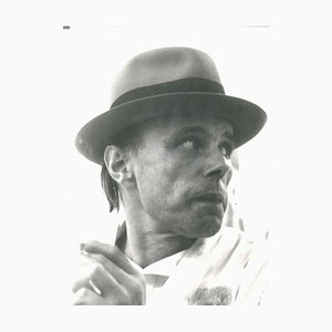 Joseph Beuys, Beuys Portrait, 1970s, Original Vintage B/w Photo
