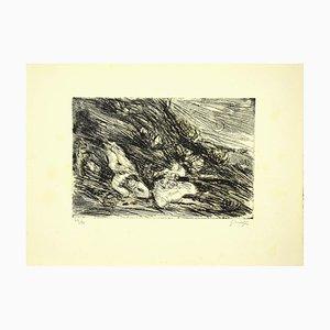Guelfo Bianchini, die Liebenden, Original Radierung, 1958