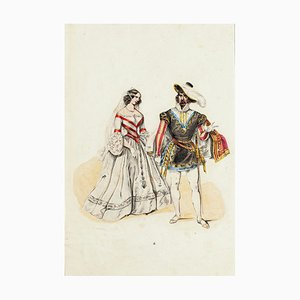 Unknown, Wedding Costume, Original Lithograph, Mid-19th Century