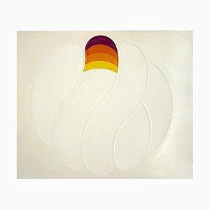 Shu Takahashi, White Finger Ball, Chalcography and Screen Print, 1973