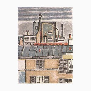Orfeo Tamburi, Roofs and Chimneys, Original Lithograph, 1973/75