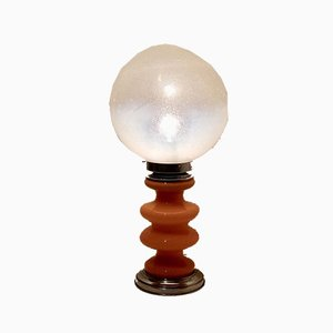 Space Age Pelugoso Glas Tischlampe von Carlo Nason für Mazzega, Italien