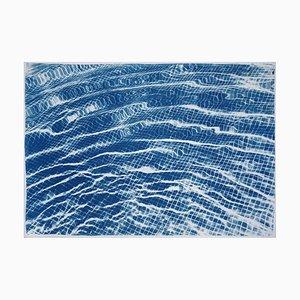 Miami Art Deco Pool Cyanotypie auf Aquarellpapier, 100x70cm, Limitierte Serie 2019