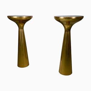 Italian Side Table in Brass, Set of 2