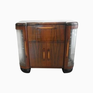 Italian Art Deco Rosewood & Mahogany Entertainment Cabinet, 1940s