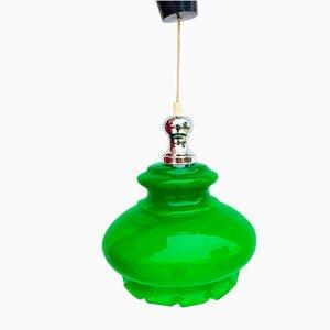 Green Opaline Lamp, 1970s
