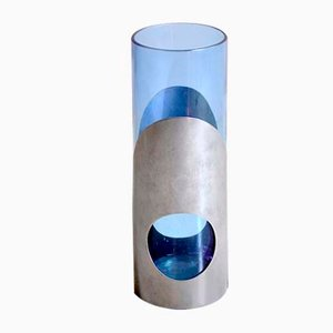 Cylindrical Vase with Steel Structure, 1960s