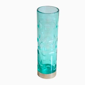 Cylindrical Vase in Colored Glass, 1960s