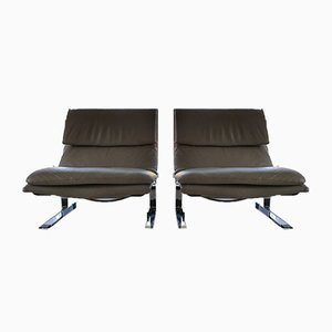 Lounge Chairs by Giovanni Offredi for Saporiti Italia, 1978, Set of 2