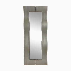 Italienischer Aluminium Spiegel von Lorenzo Burchiellaro, 1970er