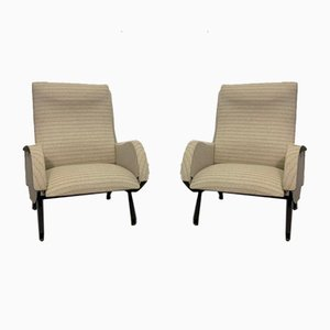 Armchairs with Metal Base, 1960s, Italy, Set of 2