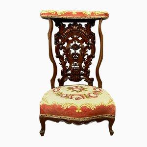 Napoleon III Violin-Shaped Mahogany Dining Chair
