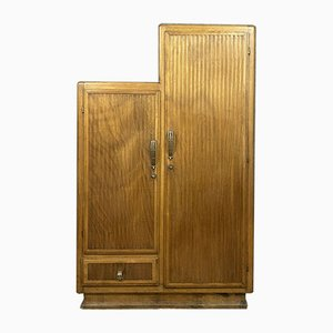 Art Deco Asymmetrical Light Wood Garderobe, 1940er Jahre