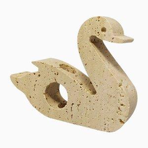 Swan Skulptur aus Travertin von Enzo Mari für F.lli Mannelli, Italien, 1970er