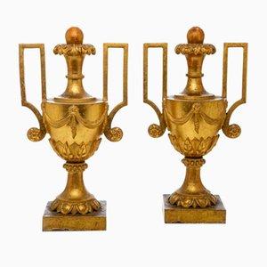 Große Vasen mit Griffen, 2er Set