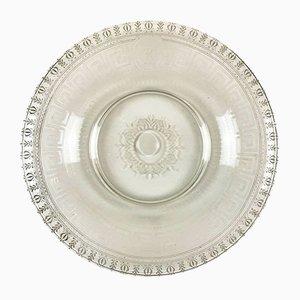 Engraved Glass Circular Dish, 1800s