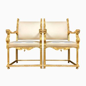 Renaissance Gold Chairs, Set of 2