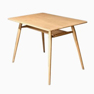 Vintage Elm Rectangular Dining Table With A Rack by Lucian Ercolani for Ercol, 1960s