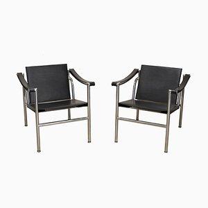 Modell LC1 Sessel von Le Corbusier für Cassina, 1970er Jahre, 2er-Set