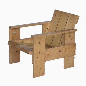 Poltrona Crate di Gerrit Rietveld per Gerard van de Groenekan, anni '70
