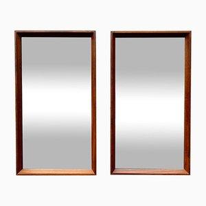 Rectangular Teak Mirrors, Set of 2