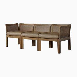 Modell Plexus Danish Modern 3-Sitzer Sofa von Illum Wikkelsø für CFC Silkeborg, 1960er
