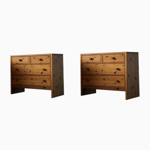 Danish Modern Pine Chests of Drawers, 1980s, Set of 2