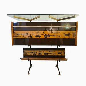 Mueble bar italiano de palisandro, años 60
