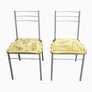 Italienische Stühle von Parisotto, 1970er, 2er Set