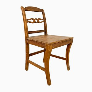 Antique Swedish Pine Wooden Chair